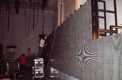 室内舞台背景led显示屏结构安装