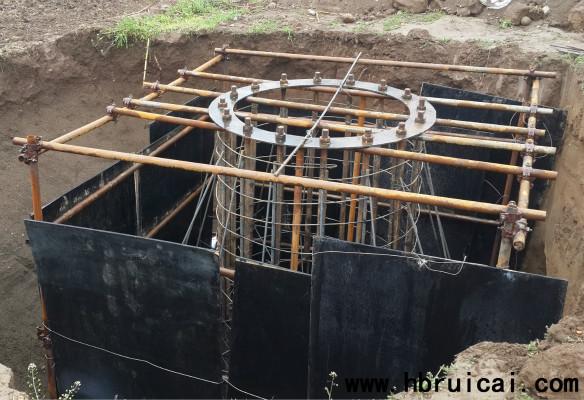 单立柱广告牌基础场地开挖